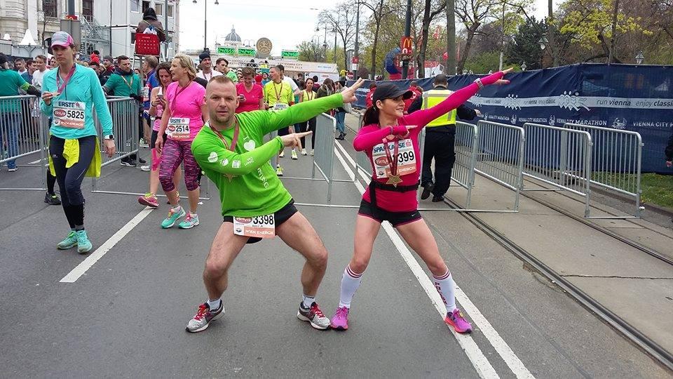W minioną niedzielę (10 kwietnia) Ania i Marcin przebiegli wspólnie maraton we Wiedniu.